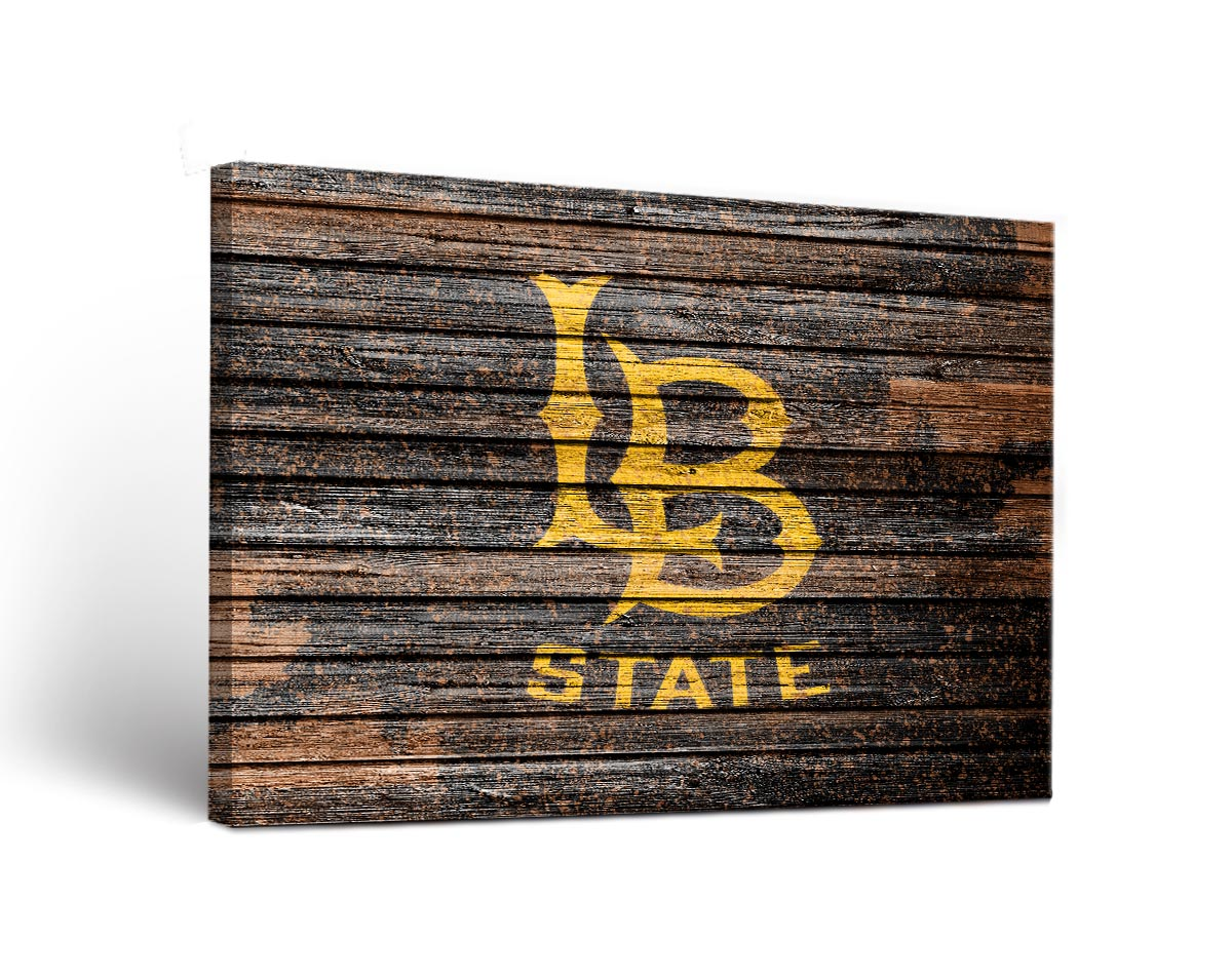 Long Beach State 49ers Weathered Canvas Wall Art