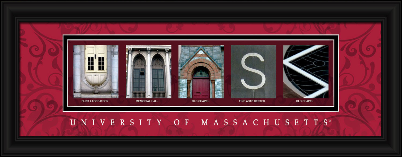 Massachusetts minutemen campus letter art for Campus letter art