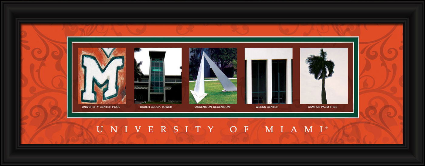 Miami hurricanes campus letter art for Campus letter art