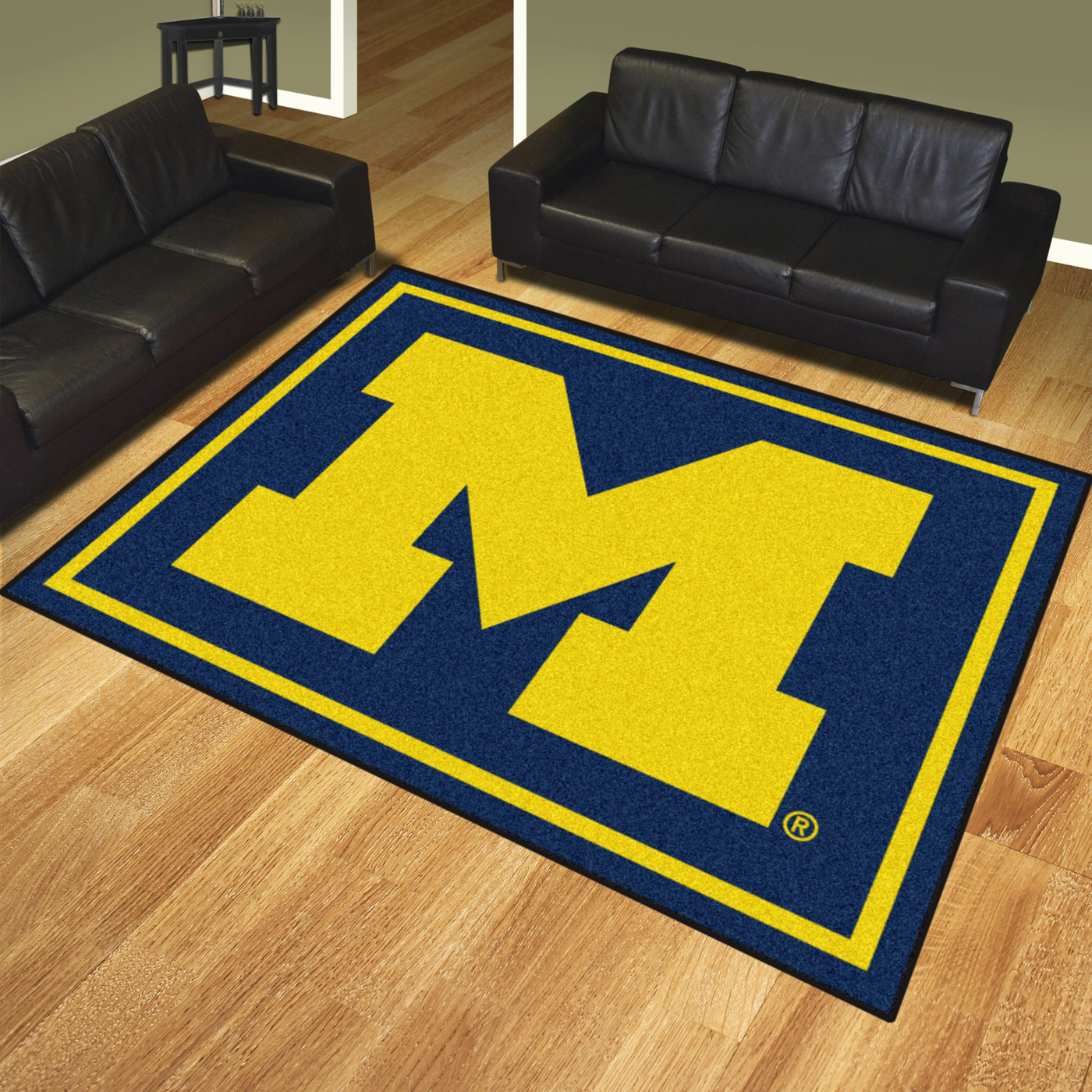 Michigan wolverines 8 39 x 10 39 area rug for 10 x 16 living room