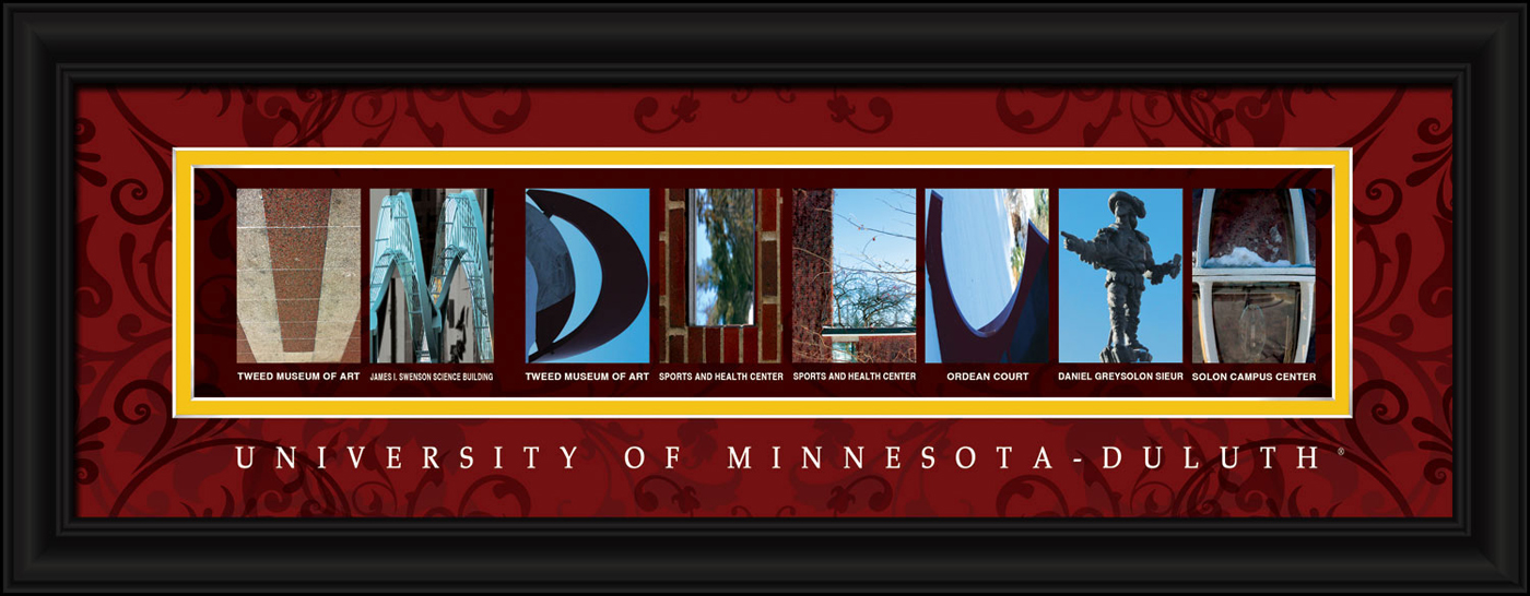 Minnesota duluth bulldogs campus letter art for Campus letter art