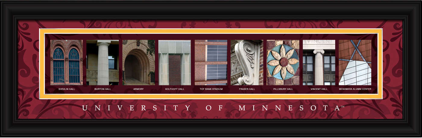 Minnesota golden gophers campus letter art for Campus letter art