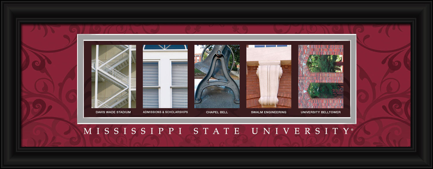 Mississippi state bulldogs campus letter art for Campus letter art