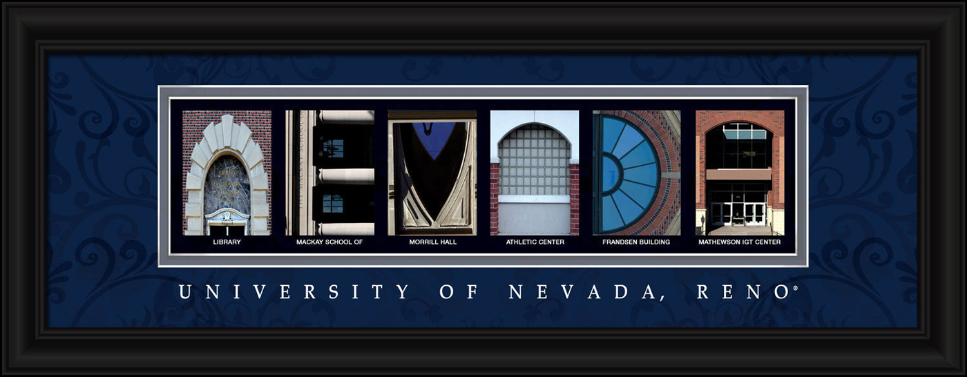 Nevada wolf pack campus letter art for Campus letter art