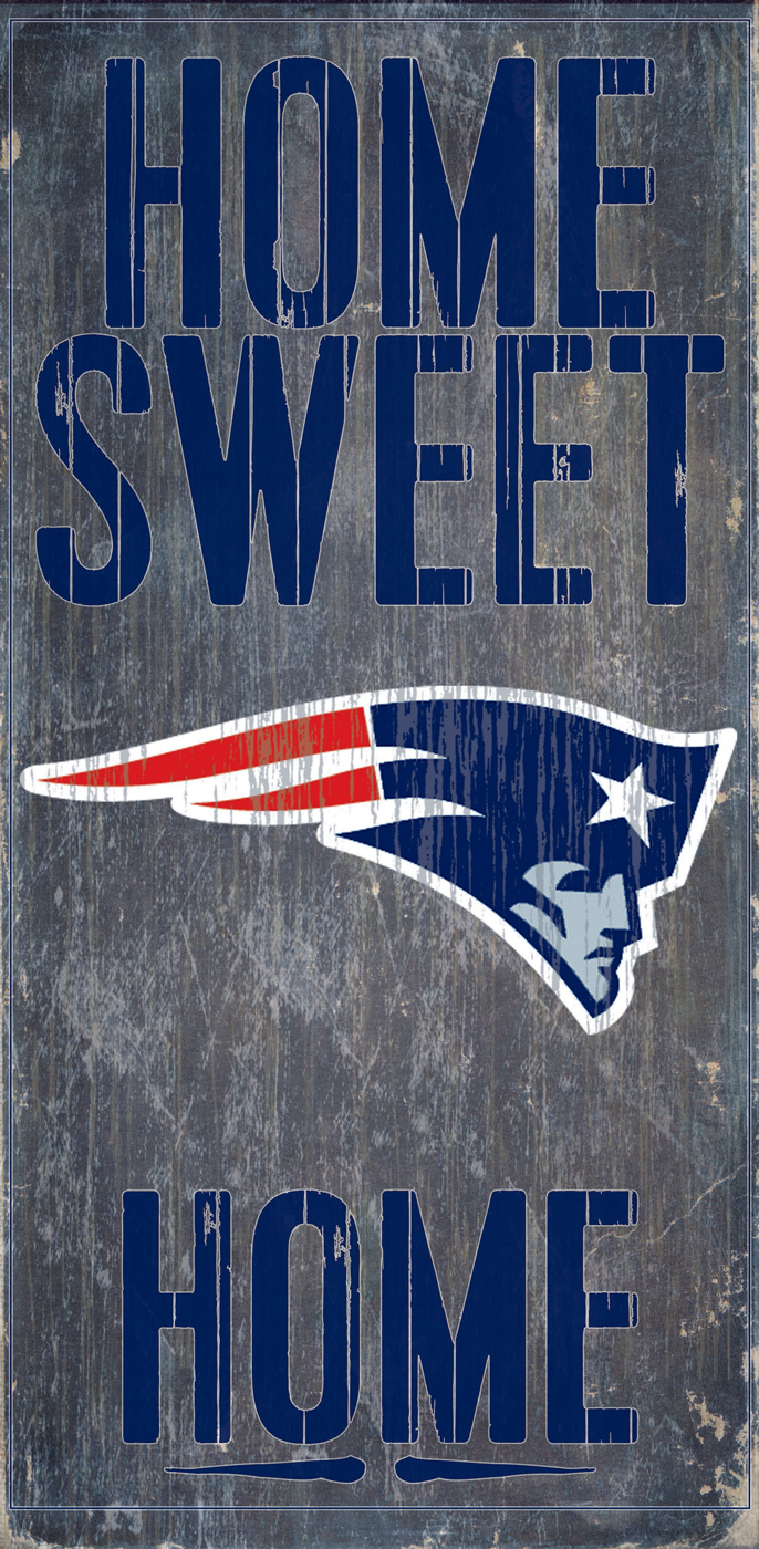 New england patriots home sweet home wood sign for New home sign