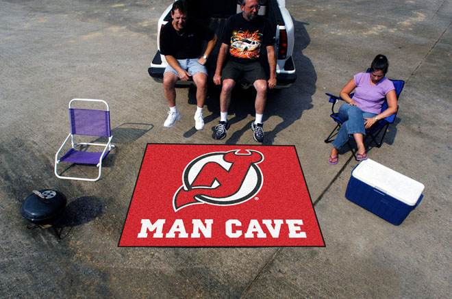 Man Caves New Jersey : New jersey devils man cave tailgate mat
