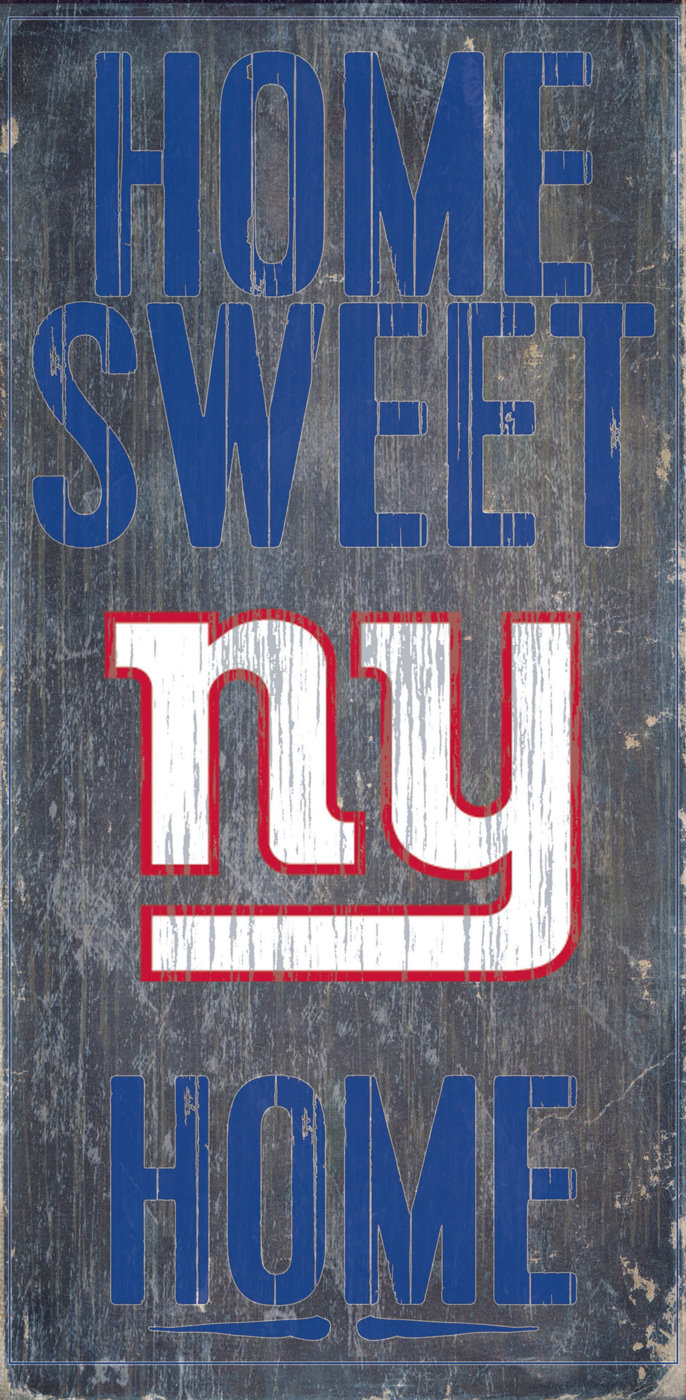 New york giants home sweet home wood sign for New home sign