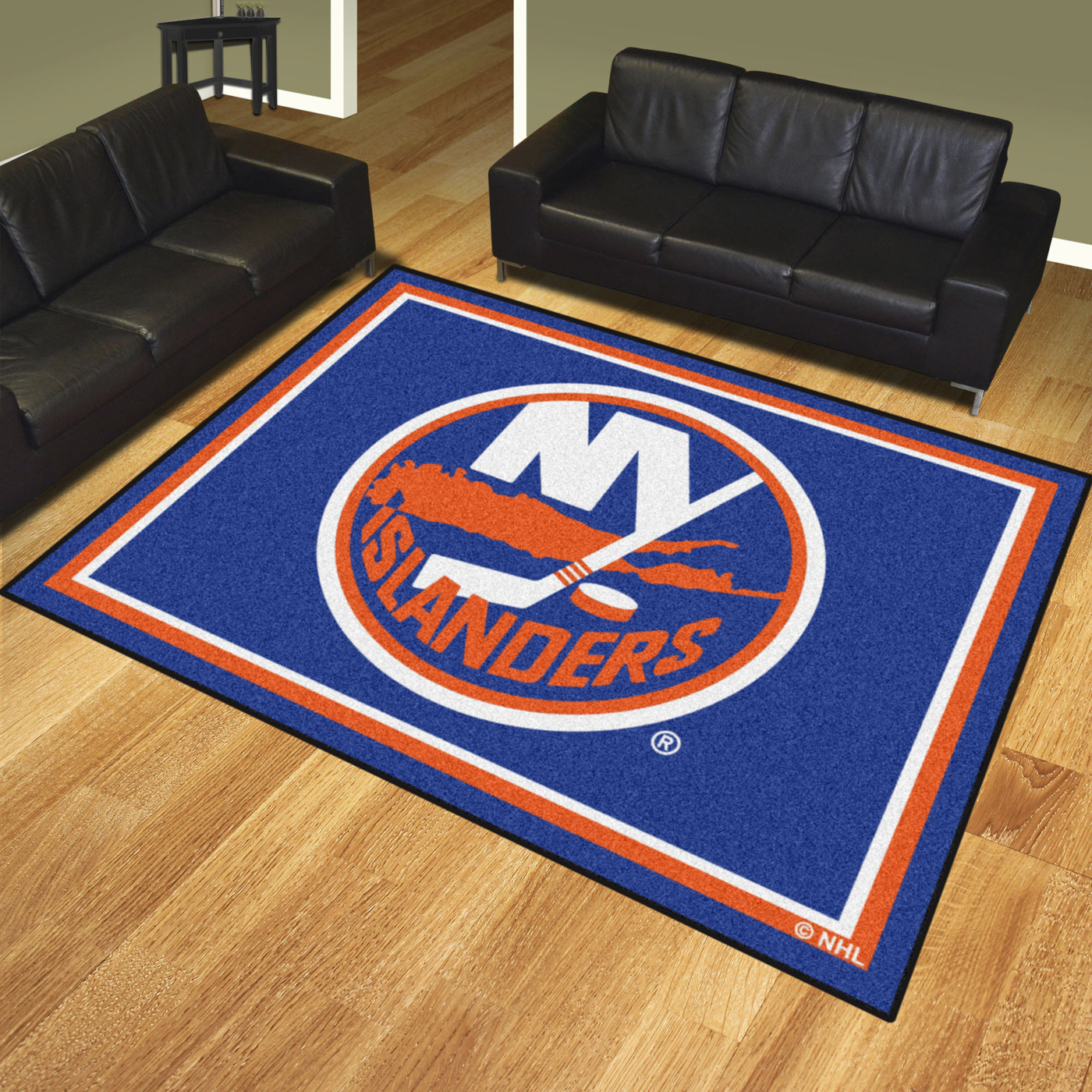 New york islanders 8 39 x 10 39 area rug for Area rugs new york