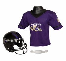 NFL Youth Football Helmet and Jersey Sets