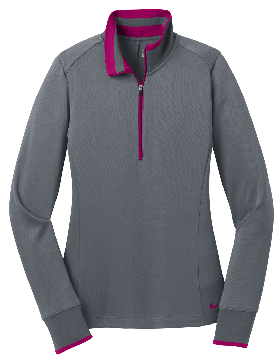 Nike golf dri fit 1 2 zip women 39 s long sleeve shirt for Women s dri fit golf shirts