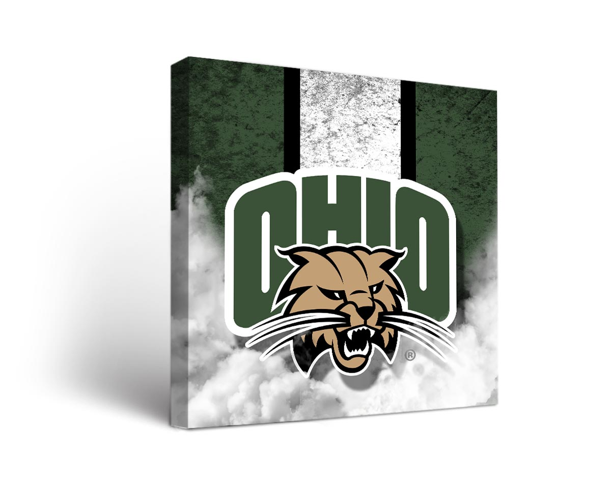 Ohio bobcats vintage canvas wall art for Vintage basketball wall art