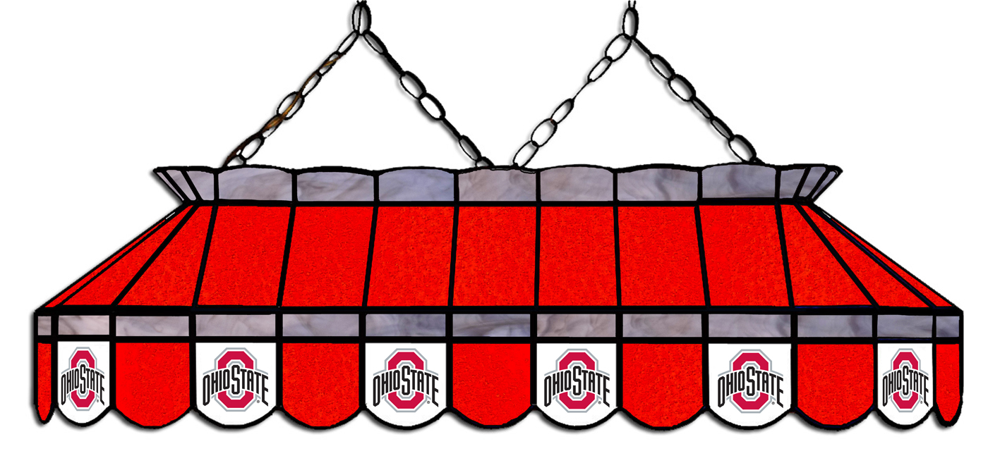Ohio State Buckeyes 40 Stained Glass Pool Table Light