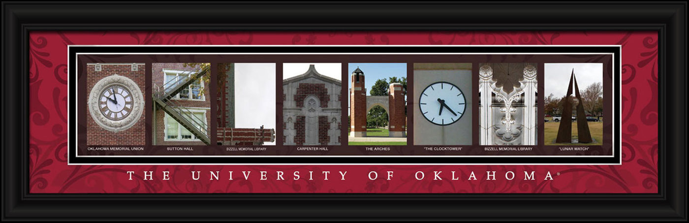 Campus Letter Art Oklahoma Sooners Campus Letter Art
