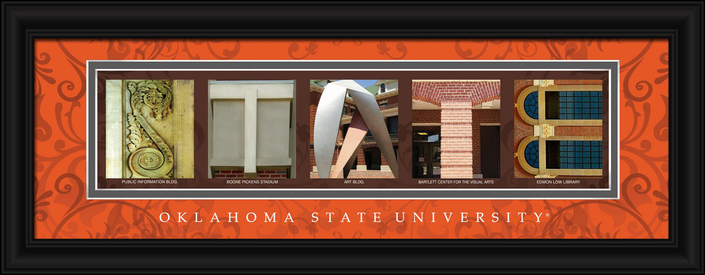 Oklahoma state cowboys campus letter art for Campus letter art