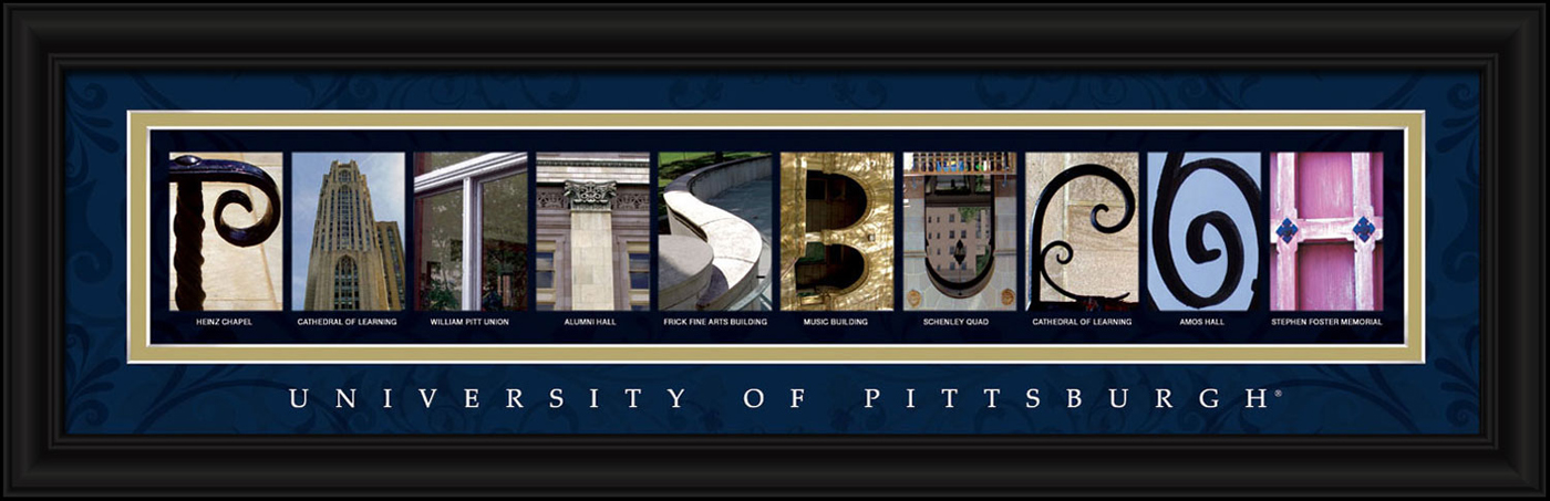 Pittsburgh panthers campus letter art for Campus letter art