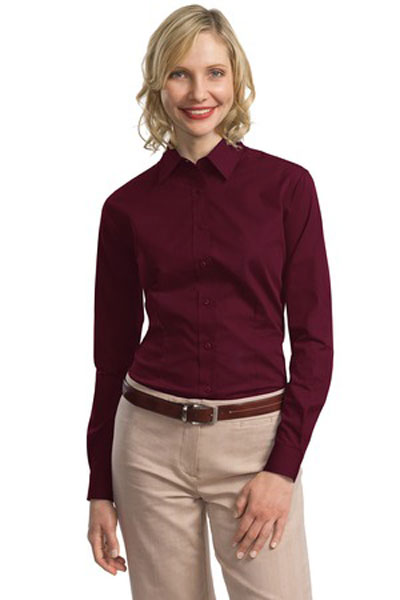 Port authority custom women 39 s tonal pattern easy care for Custom pattern button down shirts