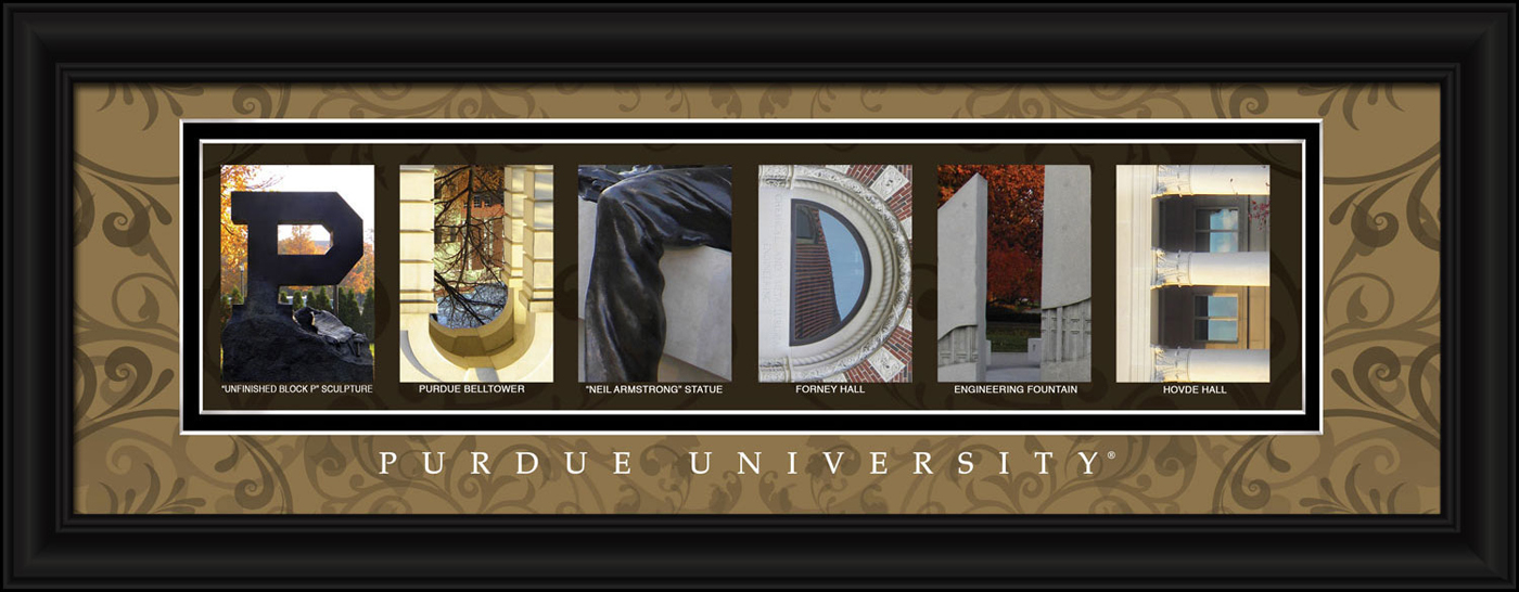 Purdue boilermakers campus letter art for Campus letter art