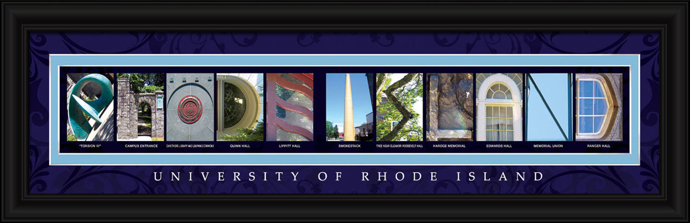 Rhode island rams campus letter art for Campus letter art