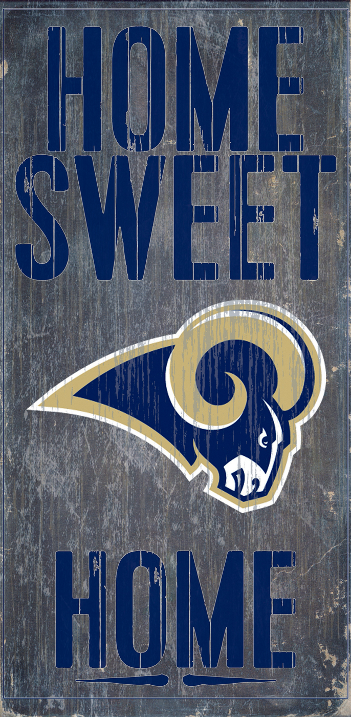 Foyer Home St Louis Reims : Los angeles rams home sweet wood sign