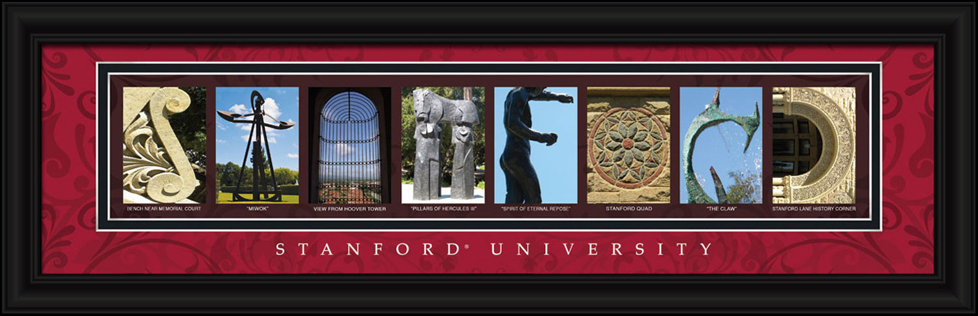 Campus Letter Art Stanford Cardinal Campus Letter Art