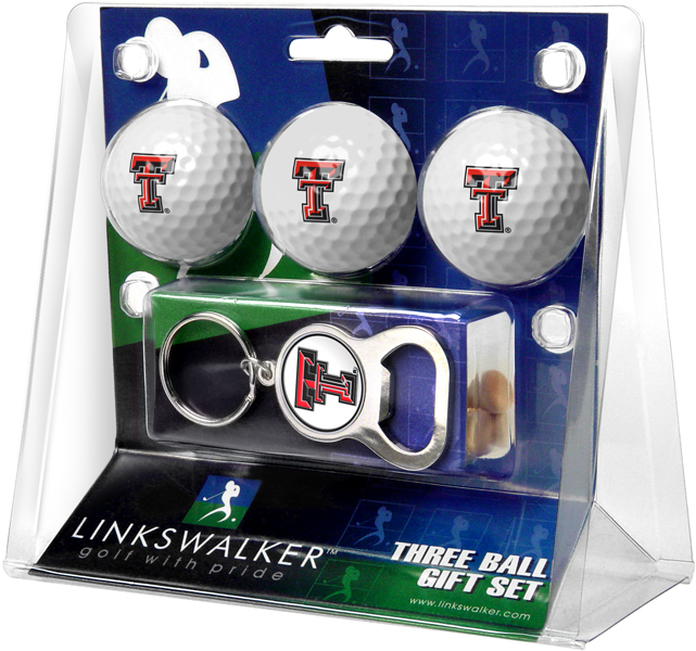texas tech red raiders golf ball gift pack with key chain. Black Bedroom Furniture Sets. Home Design Ideas
