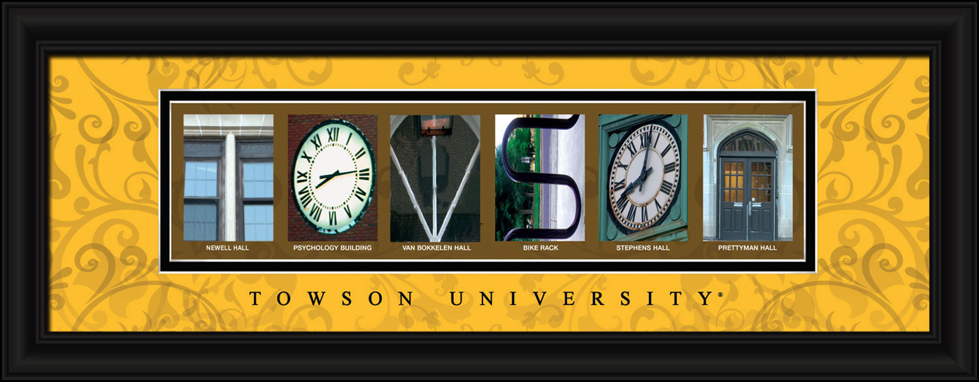 Towson tigers campus letter art for Campus letter art