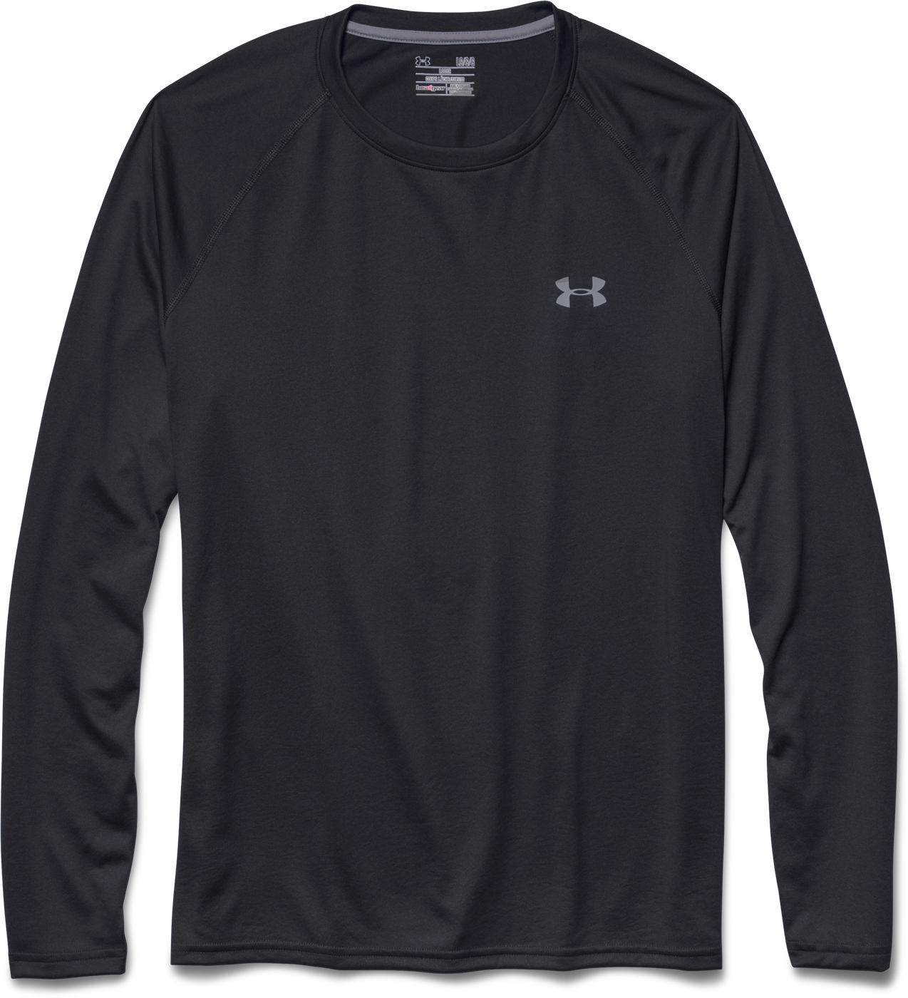 Under armour men 39 s ua tech longsleeve shirt for Under armour heatgear white shirt