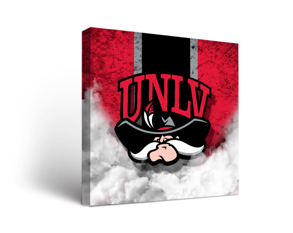 Unlv rebels vintage canvas wall art for Vintage basketball wall art