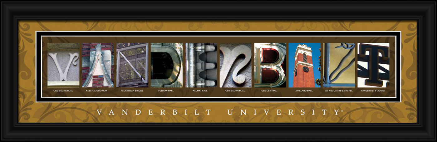Vanderbilt commodores campus letter art for Campus letter art