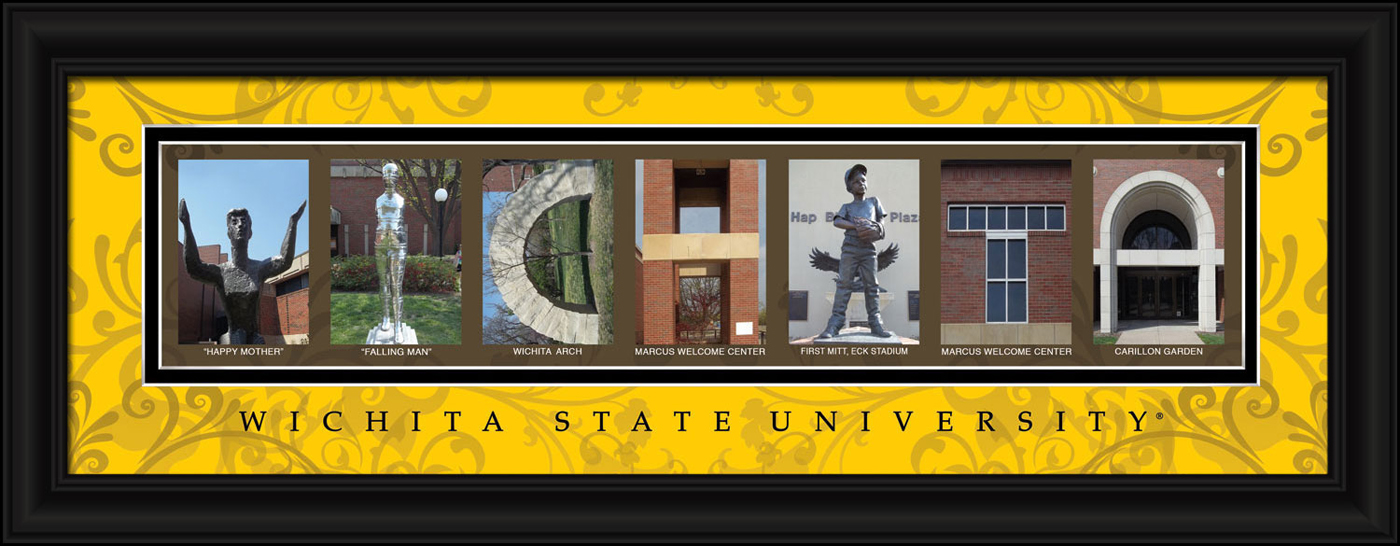 Wichita state shockers campus letter art for Campus letter art