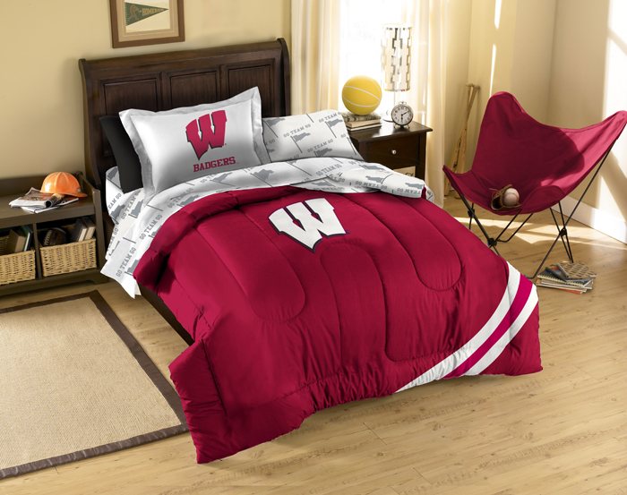 Wisconsin Badgers Twin Bed In A Bag Set