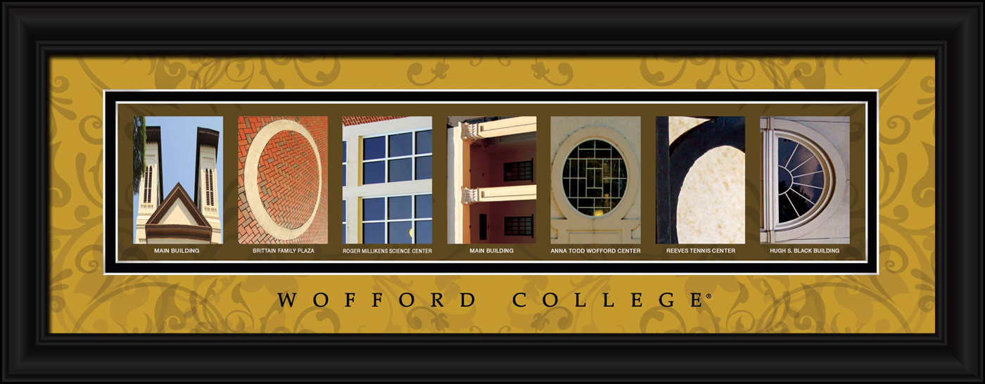 wofford terriers campus letter art With campus letter art