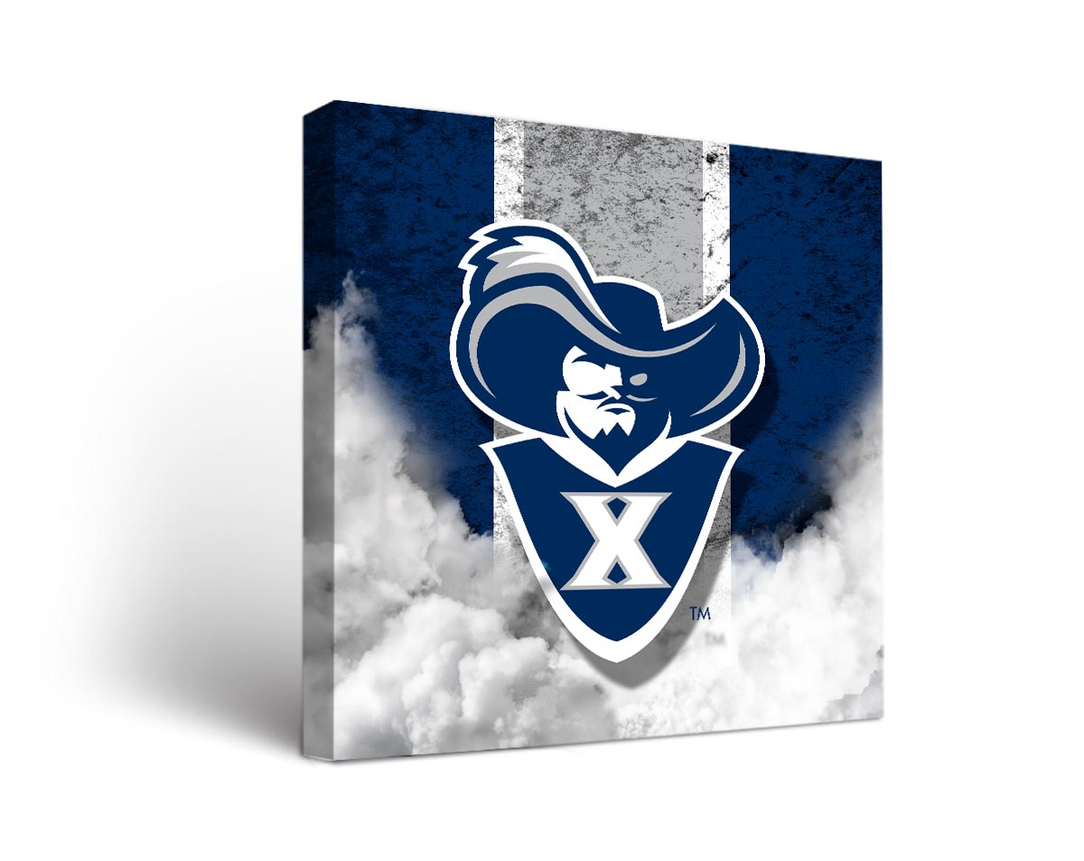 Xavier musketeers vintage canvas wall art for Vintage basketball wall art