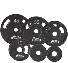 York G2 Dual Grip Steel Olympic Plates