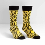 Caution Tape Crew Socks
