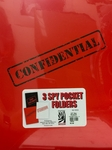 Confidential, Classified & Top Secret Folder 3 pack