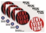 Deny Everything Stickers (Set of 4)