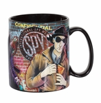 Embossed Black Spy Glitter Mug (International Spy Museum Exclusive)