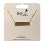 Gold Bar With Arrow Necklace