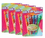Ink A Doo Tattoo Pens Pack (Set of 4)