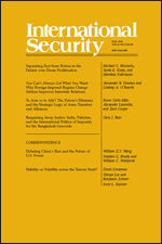 International Security, Volume 41, Issue 2, Fall 2016