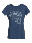Ladies Blue International Spy Museum T-shirt Since 2002