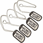 Secret Agent Dog Tags - Set of 4 (Spy Museum Exclusive)