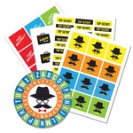 Electronic Sneaky Spy Sticker and Cipher Wheel Set (Spy Museum Exclusive)