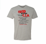 Top 10 Reasons I Didn't Make It In The CIA Tee