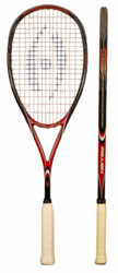 last few - Harrow Clutch Squash Racquet, Black / Red / Navy
