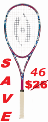 LAST ONE - Harrow Stealth Squash Racquet, Camo / Pink / Blue