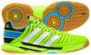Adidas adiPower Stabil 10.1 Men's Court Shoes, Neon Green / White