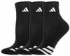Adidas Cushioned 3 Stripes Quarter Socks, Black, 3-Pack