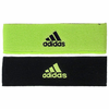 Adidas Interval Reversible Headband, Neon Green / Black